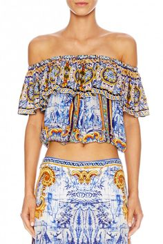 CAMILLA ROAD TO SEVILLE MIDRIFF FRILL TOP 2