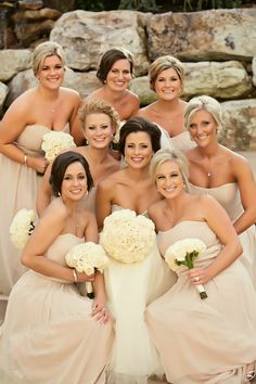 Nude Bridesmaid Dresses | Classically Glamorous New Jersey Wedding