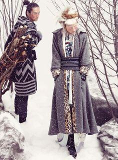 Toni Garrn & David Chiang for Vogue Germany