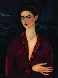 """Frida Kahlo, """"Autoportrait à la robe de velours"""" - 1926."""