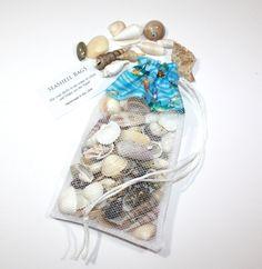 25% Off SALE Sea Shell Collecting Bags-Island Sea Life-Drawstring Mini SeaShell…