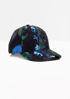 & Other Stories image 1 of Jacquard Cap  in Blue
