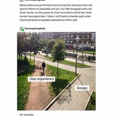 I hate that they insist on straight paths when no one walks like that yeesh - Expolore the best and the special ideas about User experience Stupid Funny, Funny Cute, Hilarious, Funny Stuff, Random Stuff, Dankest Memes, Funny Memes, Jokes, Funny Tumblr Posts