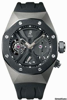 Audemars Piguet Royal Oak GMT Tourbillon Concept  chronograph Titanium case rubber bracelet