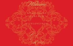 Great motifs and beautiful gold foil are the main elements of this invite. The stunning red color enhances the off-beat baroque pattern on this invite making Wedding Stationery, Wedding Invitations, Laser Cut Box, Personalized Stationary, Indian Wedding Cards, Baroque Pattern, Table Cards, Wedding Programs, Save The Date Cards