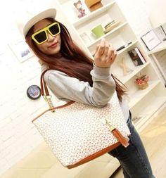 Lady Women Synthetic Leather Messenger Handbag Shoulder Bag Totes Purse