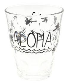 Kahiko(カヒコ)の【kahiko】ALOHAパームツリーグラス(グラス/マグカップ/タンブラー)|ブラック