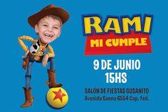Invitación de cumple personalizada de Toy Story                              …