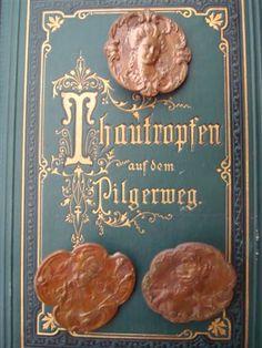 Antique buttons bought at a flea market in Paris.