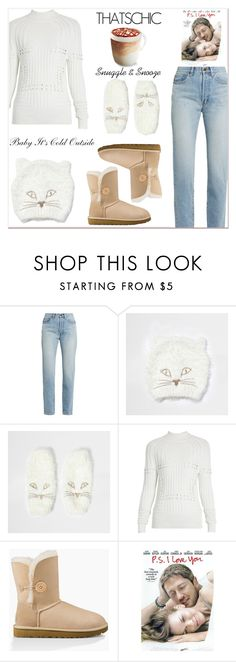 """Cozy Chic"" by misshonee ❤ liked on Polyvore featuring Yves Saint Laurent, River Island, Mary Katrantzou, UGG Australia and cosychic"