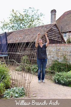Grab some sweet pea seeds and willow rods, and you can make this gorgeous, scented archway (or secret tunnel) for your garden. This project is shared from the new book, Gardening on a Shoestring: 100 Fun Upcycled Garden Projects by Alex Mitchell.