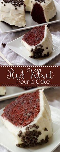 Red Velvet Pound Cake | Mostly Homemade Mom
