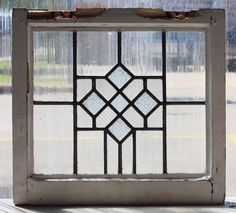 Vintage Leaded Glass Windows | Antique Leaded Glass Window Art Deco Diamond Pattern | eBay