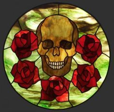 I love stained glass and I love skulls.