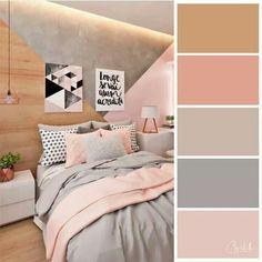 inspiring bedroom colour ideas 9 ~ Home Design Ideas Best Bedroom Colors, Bedroom Colour Palette, Bedroom Color Schemes, Bedroom Decor Colours, Home Room Design, Design Bedroom, Aesthetic Room Decor, Room Ideas Bedroom, Beautiful Bedrooms