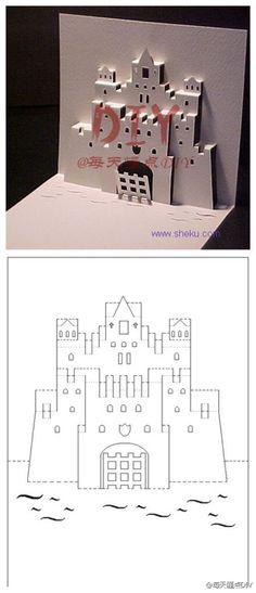 【创意卡片DIY】照着图纸 自己做一个创意的卡片吧 - 堆糖 发现生活_收集美好_分享图片