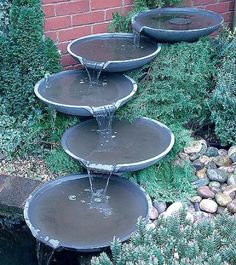 Stone fountain...I love the sound of a fountain.
