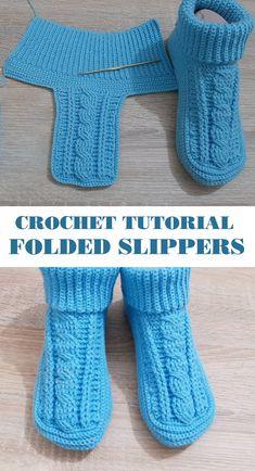 Diy Crochet Slippers, Crochet Slipper Boots, Crochet Slipper Pattern, Crochet Patterns, Crochet Tutorials, Crochet For Kids, Free Crochet, Knit Crochet, Crochet Daisy
