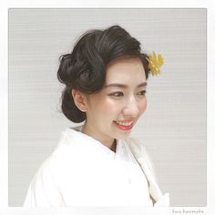 "Hairmake by KWS on Instagram: ""_ ♦︎♢白無垢×フィンガーウェーブ風♢♦︎ hair&makeup:#YIwasaki #YTakahashi…"""