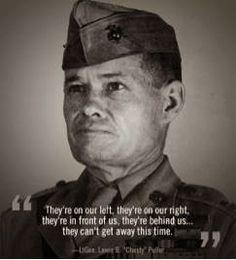 Chesty Puller A true American Hero! Marine Corps Quotes, Marine Corps History, Marine Corps Humor, Usmc Quotes, Military Quotes, Military Humor, Us Marine Corps, Military Life, Military Terms