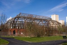 Delapidated glasshouse in Springburn Winter Gardens, #Glasgow.