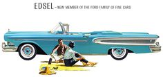 Ad for 1958 Edsel Citation convertible