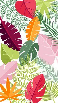 Palm Leaf Wallpaper, Flower Phone Wallpaper, Cellphone Wallpaper, Iphone Wallpaper, Folk Art Flowers, Flower Art, Background Design Vector, Autumn Scenes, Cute Patterns Wallpaper