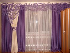 Tips For Investing In Home Theater Project Swag Curtains, Home Curtains, Curtains With Blinds, Window Coverings, Window Treatments, Diy Home Decor, Room Decor, Purple Kitchen, Bedroom Bed Design