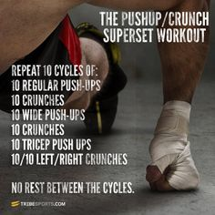 superset workouts | Pushup Crunch Military Superset Workout Full | Challenges ...