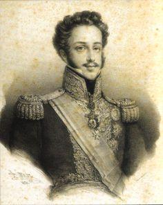 D. Pedro de Alcântara (1798-1834) - Imperador do Brasil (de 1 de Dezembro de 1822 a 7 de Abril de 1831), Rei de Portugal por breves dias (20 de Março a 8 de Abril de 1826), duque de Bragança e regente de Portugal (2 de Fevereiro de 1832 a 19 de Agosto de 1834)