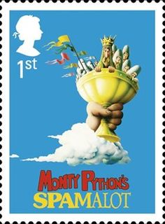 Spamalot was featured as one of Royal Mail's Classic Musicals stamps - I'm excited to see the MCC Production of this! Postage Stamps Uk, Uk Stamps, Republic Of Ireland, The Republic, Monty Python, Classic Films, British History, Stamp Collecting, British Isles