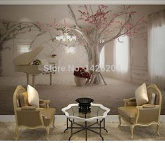 Custom any size 3D wall mural wallpapers for living room,Modern fashion beautiful 2015 new photo murals tree wallpaper-in Wallpapers from Home & Garden on Aliexpress.com | Alibaba Group