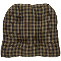 Sturbridge Black Chair Pad: Sturbridge Black country kitchen chair pads from Park Designs. Featuring a plaid of black and beige. Measures x x A thick, generous chair pad with ties in cotton fabric. Kitchen Chair Pads, Primitive Kitchen, Country Kitchen, French Country Decorating, Cool Chairs, Slipcovers, Your Style, Cotton Fabric, Cushions