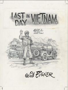 Will Eisner Original Art: Page 1 SPLASH / TITLE PAGE from Last Day in Vietnam (2000)