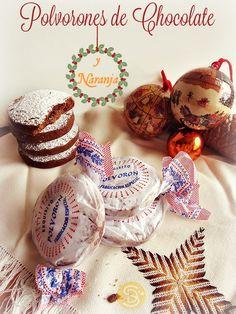 D'Larpeir@s- Polvorones de Chocolate y Naranja (sin Almendras) #Polvorones #Chocolate #Naranja #ReposteríaTradicionalspañola #Navidad #Navidad2.015