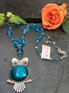 owl necklace, Made by Arja Hannele Owl Necklace, Turquoise Necklace, Charmed, Bracelets, Jewelry, Jewlery, Jewerly, Schmuck, Jewels