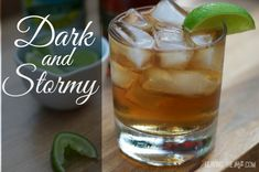 Dark and Stormy | Perfect blend of dark rum and ginger beer for a refreshing cocktail that goes down smooth. www.leVingtherut.com
