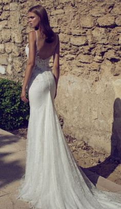Featured Dress: Hadas Cohen; Wedding dress idea.