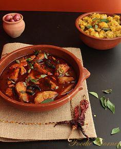 Kerala Kappa Meen Curry/ Boiled tapioca and fish curry