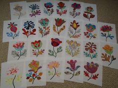 the Glorious Color Flower Garden quilt blocks