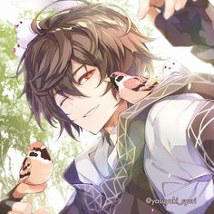 Wanna hold it.its ok it wont hurt you Having problems obtaining anime? Cool Anime Guys, Hot Anime Boy, Handsome Anime Guys, Anime Love, Chica Anime Manga, Kawaii Anime, Cute Anime Character, Character Art, Manga Art