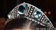 Nobel Jewels 2017: Crown Princess Victoria wore the gorgeous diamond and aquamarine kokoshnik that has belonged to generations of Swedish royal women,