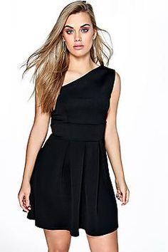 Plus Molly Shoulder Detail Skater Dress Curve Dresses 44ef3257a