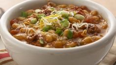 For the crockpot, Cheesy Chorizo Chili - This has a lot of calories and I'm not a fan of chorizo, but I think I'll try it with regular sausage.