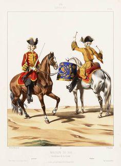 1724. Louis XV. Maison du Roi: Gendarmes de la Garde; Gendarme; Timbalier
