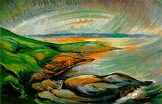 Straight of Juan de Fuca Emily Carr - circa 1936 McMichael Canadian Art Collection (Canada) Painting - oil on paper Height: cm in. Tom Thomson, Emily Carr Paintings, Easy Paintings, Canadian Painters, Canadian Artists, Post Impressionism, Impressionist Paintings, Oil Painting Reproductions, Amazing Art