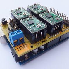 Arduino CNC Shield – 100% GRBL Compatable   Protoneer.co.nz