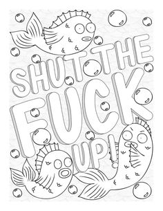 Swear Word Coloring Book, Love Coloring Pages, Printable Adult Coloring Pages, Coloring Sheets, Coloring Books, Coloring Pages Inspirational, Grass, Therapy, Sketches
