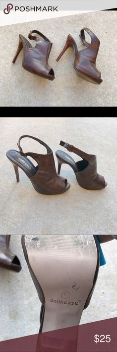 💛Clearance💛 Dollhouse Heels Brown Dollhouse Heels Size 7.5 Dollhouse Shoes Heels