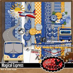 Mad for the Mouse: Have you heard? Digital Scrapbook Paper, Disney Scrapbook, Digital Papers, Disney Magical Express, Printable Paper, Kit, Create, Prints, Ideas